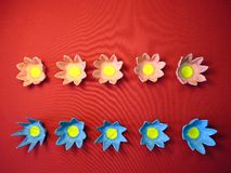 Artificial flowers made from paper stock photography
