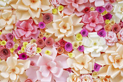 Artificial flowers made of paper Royalty Free Stock Photo