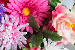 Artificial flowers of the material as a permanent decoration of the interior Royalty Free Stock Photography