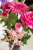 Artificial flowers of the material as a permanent decoration of the interior Royalty Free Stock Images