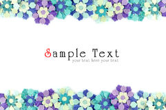 Artificial flowers mulberry paper frame. For background Royalty Free Stock Images