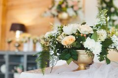 Artificial flowers of new generation. Used for decorating a wedding stock photography