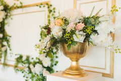 Artificial flowers of new generation. Used for decorating a wedding Royalty Free Stock Image