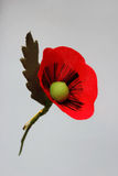 Artificial Flowers Poppies handmade Royalty Free Stock Photo