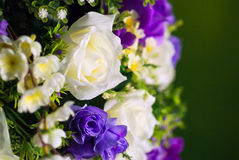 Artificial flowers rose in soft light Stock Photo