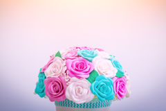 Artificial flowers of roses Royalty Free Stock Photos