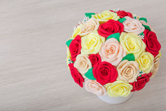 Artificial flowers roses from foam Stock Image