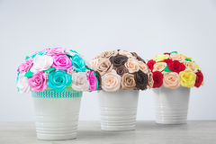 artificial flowers of roses royalty free stock photo