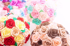 Artificial flowers roses from foam Royalty Free Stock Photo
