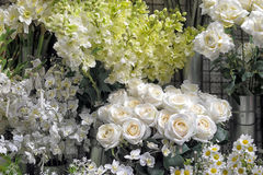Artificial flowers. In the shop Stock Image