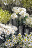 Artificial flowers. In the shop Stock Photography