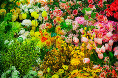 Artificial Flowers in a Shop Stock Photos