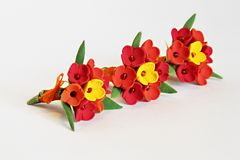 Artificial flowers (three bunches of tulips) Stock Photo