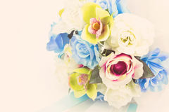 Artificial flowers, Vintage effect Royalty Free Stock Image