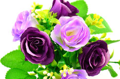 Artificial Flowers on white background Stock Photography