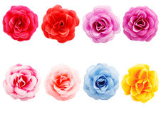 Artificial flowers. On white background Stock Photography
