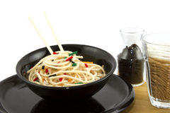 Artificial Food Asian Style Noodles Created With Yarn Royalty Free Stock Photo