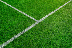 Artificial football field detail Stock Image
