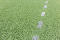 Artificial football pitch Stock Image