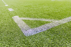 Artificial football pitch Stock Photo