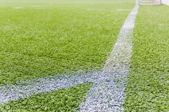 Artificial football pitch Royalty Free Stock Image