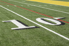 Artificial football turf Stock Image