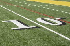 Artificial football turf Stock Image