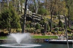 Artificial Fountain Stock Photo