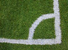 ARTIFICIAL GRASS. Green sports field with artificial grass Royalty Free Stock Photo