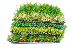 Artificial grass astroturf. Selection isolated on white Royalty Free Stock Image