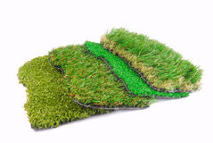 Artificial grass astroturf selection Stock Image