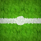 Artificial grass background. Center top view soccer grass design with white line spot pointer Stock Photography