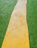 Artificial grass path way . Stock Photo