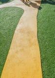 Artificial grass path way . Stock Image