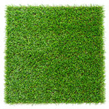 Artificial grass plate. Artificial grass isolated on white Stock Photography