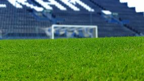 Artificial grass. Is similar the green grass in stadium Royalty Free Stock Photography