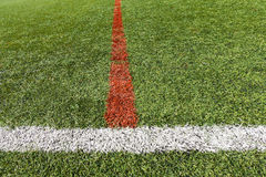 Artificial grass soccer Royalty Free Stock Photo
