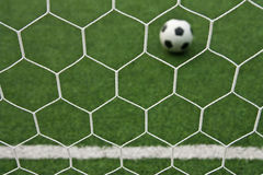 Artificial grass soccer field Royalty Free Stock Photography