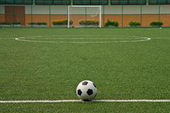 Artificial grass soccer field Stock Photo