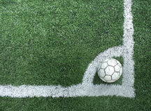Artificial grass soccer field Stock Photos