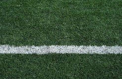 Artificial grass soccer field Stock Images