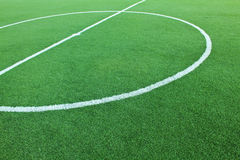 Artificial grass soccer field Stock Photography