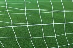 Artificial grass soccer field Stock Photo