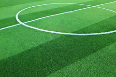 Artificial grass soccer field Royalty Free Stock Images
