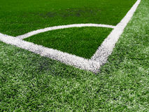 Artificial grass soccer field Royalty Free Stock Photo