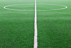 Artificial grass soccer field Royalty Free Stock Photos