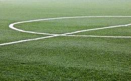 Artificial grass soccer field Stock Photography