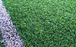 Artificial grass soccer field Royalty Free Stock Image