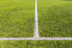 Artificial grass soccer pitch Stock Images