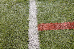Artificial grass soccer pitch or indoor futsal pitch Stock Photos